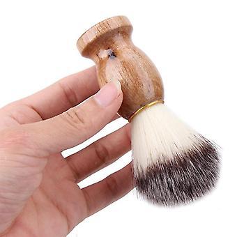 الرجال حلق فرشاة شعر الغرير مع مقبض خشبي - تنظيف لحية الوجه