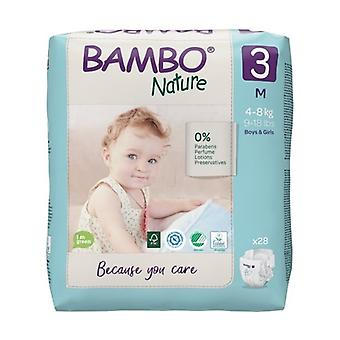 T3 diapers (4-8 Kg) ECO 28 units