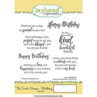 Taylored Expressions The Inside Scoop - Birthday