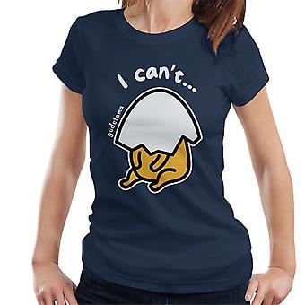 Gudetama Eggshell Head I Cant Women's T-Shirt