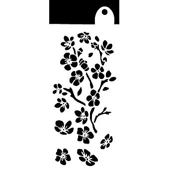 IndigoBlu Ditzy Flowers 6x3 Inch Stencil