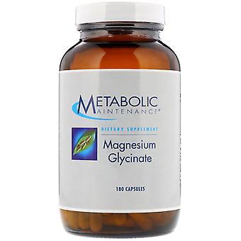 Entretien métabolique, glycinate de magnésium, 180 capsules