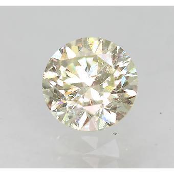 معتمد 0.42 قيراط J VS2 جولة رائعة المحسنة الماس الطبيعي 4.69mm3VG