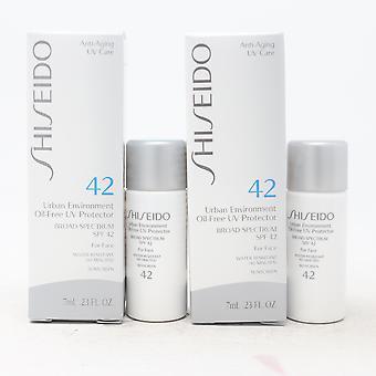 Shiseido Urban Environment Ölfreie Uv-Protektor Spf 42 Mini (Packung mit 2) neu