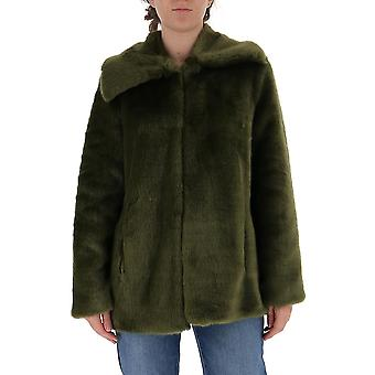 L'autre Koos B1580470071u516 Dames's Green Viscose Outerwear Jacket