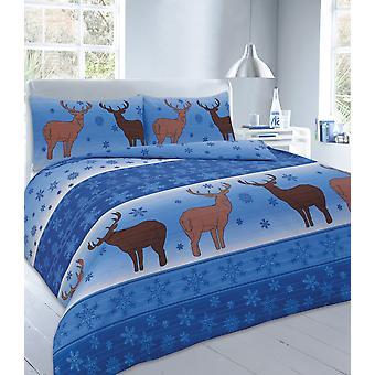 Christmas Fawn hjorte dyne Quilt dækning sengetøj sæt