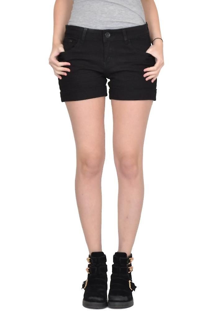 Fitted Stretch Denim Hot Pants Shorts