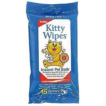 Wipes Kitty 15pk (Petkin)