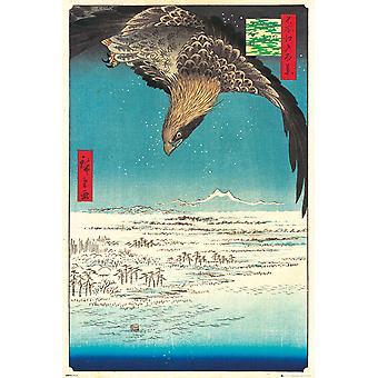 Hiroshige Jumantsubo Plain at Fukagawa Maxi Poster