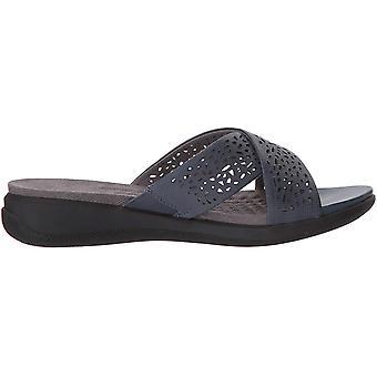 SoftWalk Womens Tillman Leather Open Toe Casual Slide Sandals