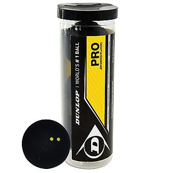 Dunlop Pro Squash Kugeln 3 Kugelrohr