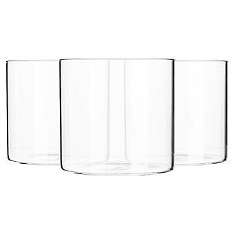 6 Piece Minimalistic Storage Jar Set - Round Scandinavian Style Versatile Glass Canister - 550ml