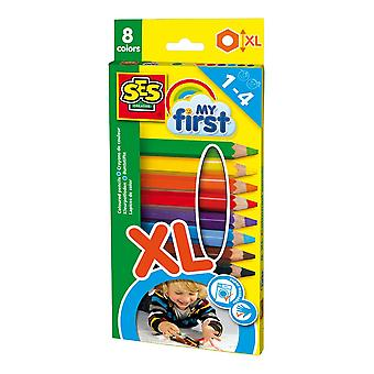 SES Creative Children's My First Coloured Pencils Set 8 XL Size Pencils (14416) SES Creative Children's My First Coloured Pencils Set 8 XL Size Pencils (14416) SES Creative Children's My First Coloured Pencils Set 8 XL Size Pencils (14416) SES