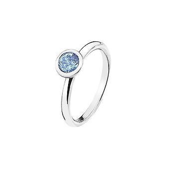Emozioni Sterling Silver Cubic Zirconia Peace Ring ER022