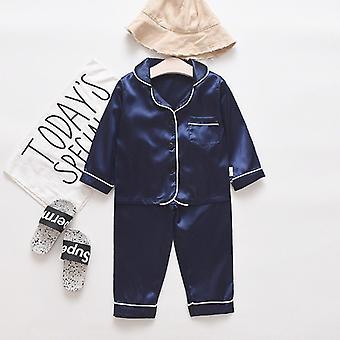 Toddler Infant Baby's Two Pieces Long Sleeve Solid Tops+pants Pajamas Sleepwear