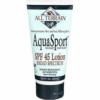 جميع التضاريس AquaSport لوشن SPF 45, 3 أوقية