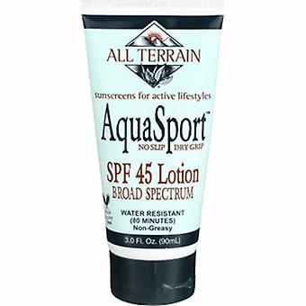 Kaikki Maasto AquaSport Lotion SPF 45, 3 oz