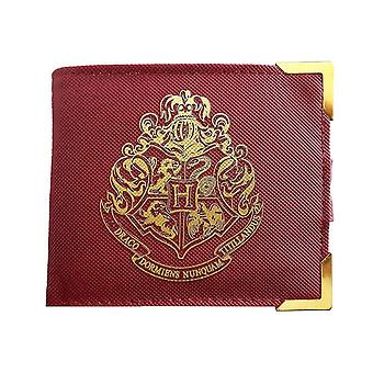 Harry Potter Wallet Golden Hogwarts Logo new Official Red Bifold