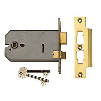 UNION 2077-6 3 Alavanca Horizontal Mortice Lock Latão Polido 149mm UNNY2077PL6