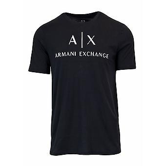 Armani exchange logo black men t-shirt