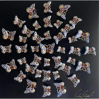 Círculo de mariposas arte de pared