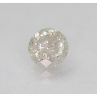 Certified 0.90 Carat G SI3 Round Brilliant Enhanced Natural Loose Diamond 5.79mm