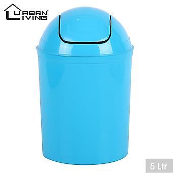 Turkis plast 5 liter mini swing topp lokk avfall bin kontor hjemme bad