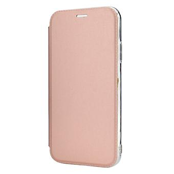 Solid Color Plain PU + TPU Mirror Leather Case for iPhone 11 Pro(Rose gold)