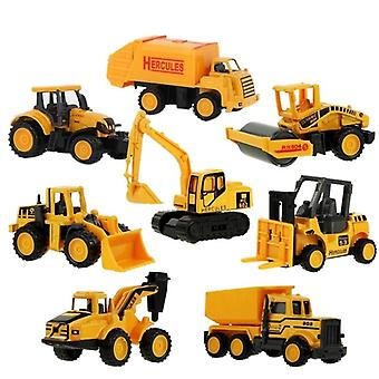 Children's Mini Alloy Engineering Vehicle Excavator Sliding Alloy Car Model Toy