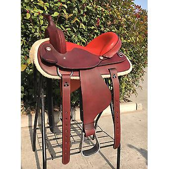 Genuine Leather Integrated Horse Riding Saddle