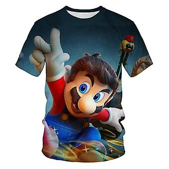 3d Printed Super Mario T-shirt, Short Sleeve Summer/girl Shirts