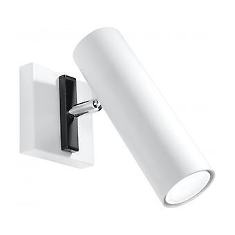 Direzione hvid stål væg lys 1 pære