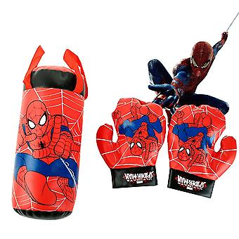 Spiderman Gloves Sandbag Set Plush Stuffed Kids Sports Boxing Toys