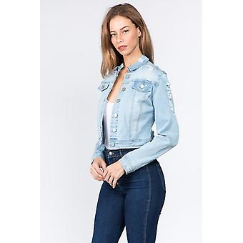 Giacca in denim Distressed Back