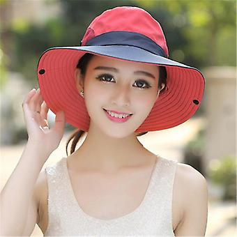 Summer Ponytail, Uv Upf Wide Brim Breathable Sun Hat & Outdoor Bucket
