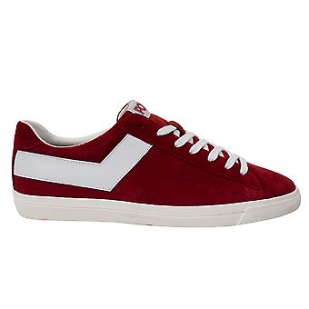 Pony Topstar Suede Ox Red Leather Lace Up Mens Trainers 10112 CRE 33