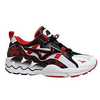 Mizuno Sport Style Wave Rider 1 White Lace Up Mens Running Trainers D1GA192509