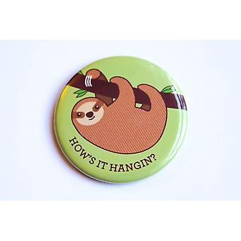 Sloth Magnet, Pin, Or Pocket Mirror