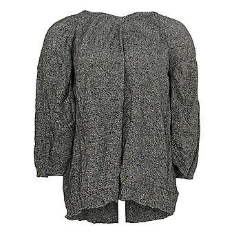 H Af Halston Kvinder's Sweater Marled V-Neck Pullover Cape Gray A300996