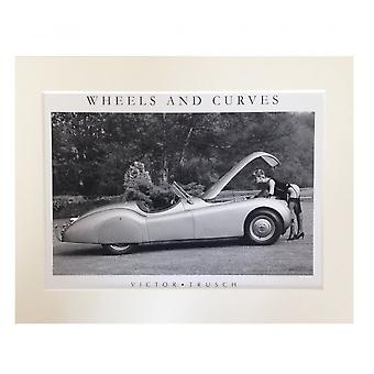 Victor Trusch Wheels And Curves A4 Mounted Print