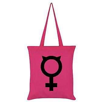 Grindstore feministische Katze Einkaufstasche