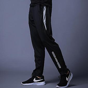 Nové běžecké kalhoty Muži Prodyšné sportovní tepláky Zip Pocket Training Gym
