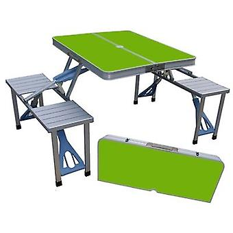 Outdoor Folding Table & Chair, Camping Aluminium Alloy Picnic Tables