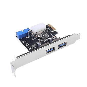 Usb 3.0 Pci-e توسيع محول بطاقة خارجية 2 منفذ Usb3.0 20pin الداخلية