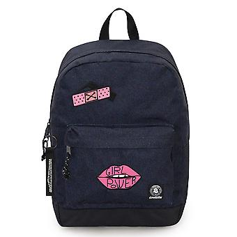 INVICTA ryggsäck - Perky Pack - Denim blå - 27 Lt - PC ficka - Skola och fritid - Amerikansk