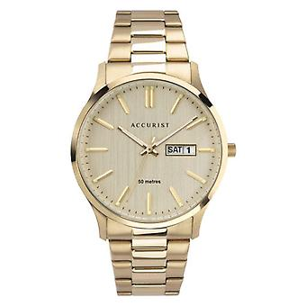 Accurist 7303 Classic Champagne & Gold Stainless Steel Men's Watch
