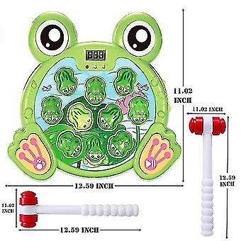 Interactive Whack A Frog Game, Durable Pounding Toy, Helps Fine Motor Skills, Fun Gifts For Kids