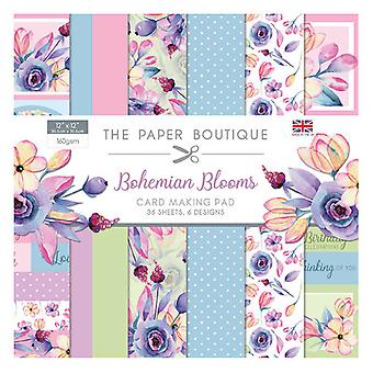 The Paper Boutique - Bohemian Blooms Collection - 12x12 Card Making Pad