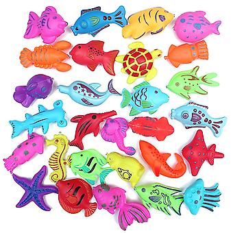 5pc Magnetic Floating Plastic Fishing Toy  (multicolor)