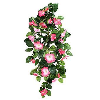 Pendurado artificial Petúnia Deluxe rosa 80cm